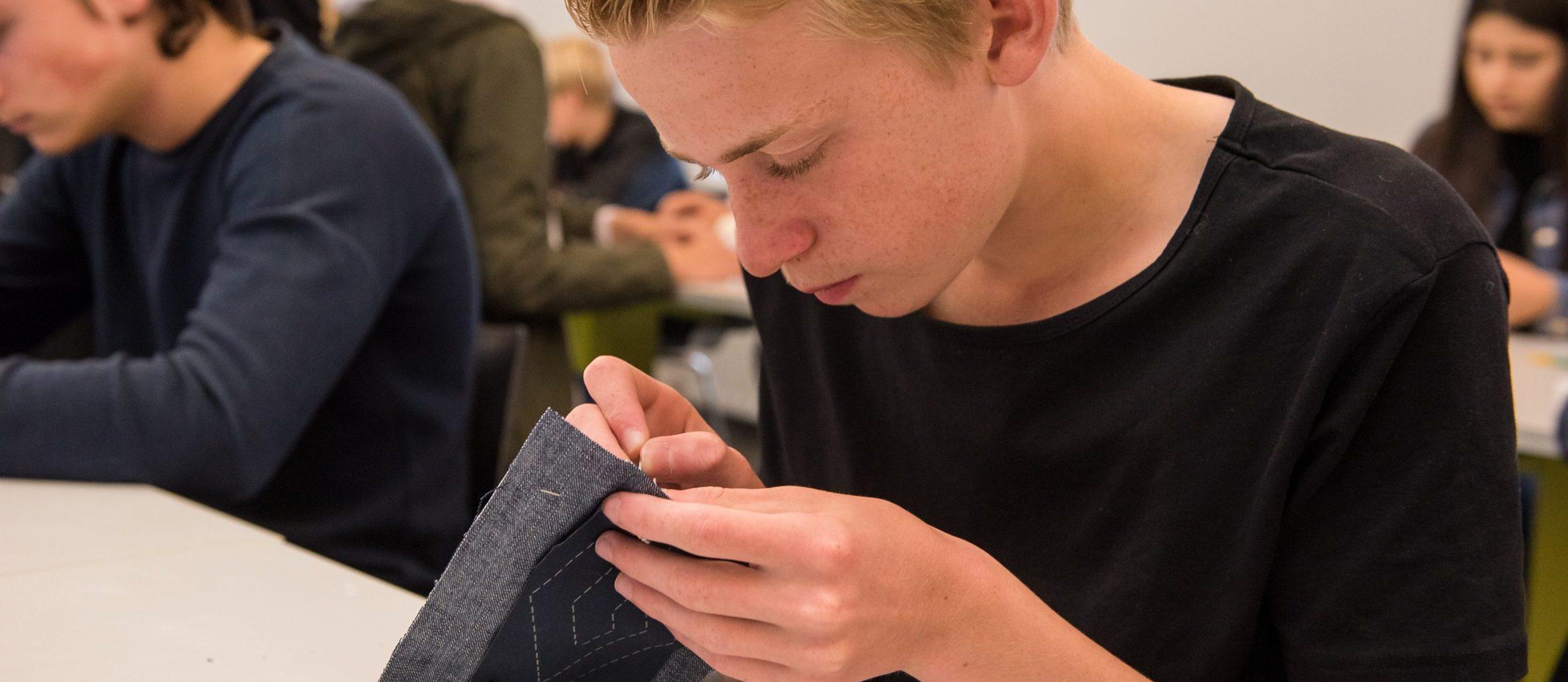 Workshop Sashiko. Foto: William van der Voort