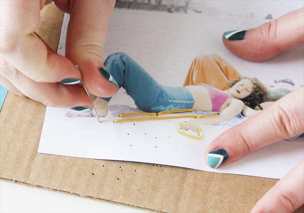 workshop kaart borduren