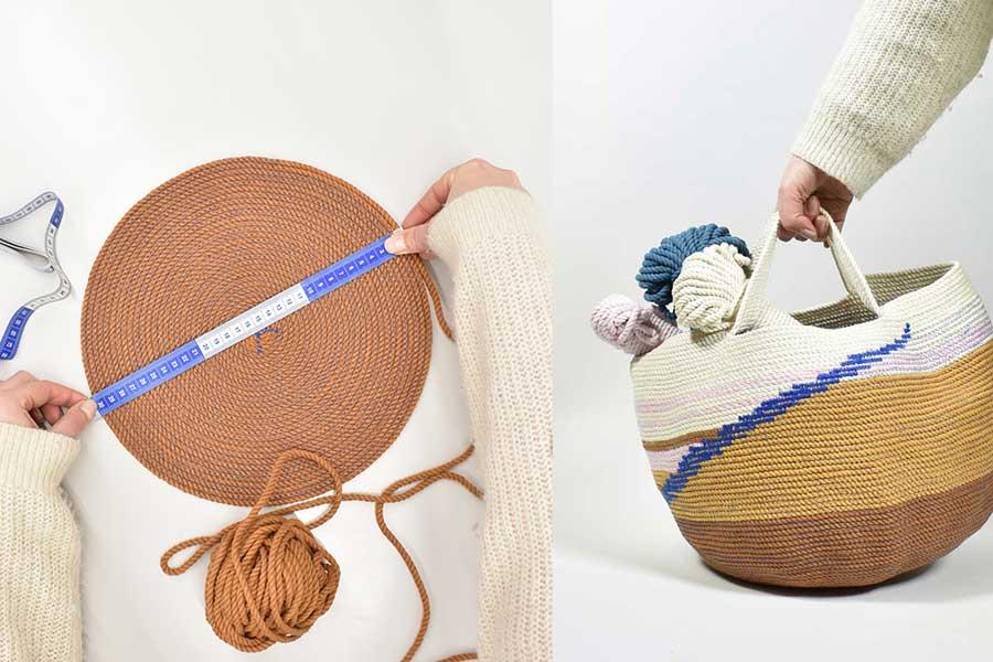 collage eigen rope basket maken