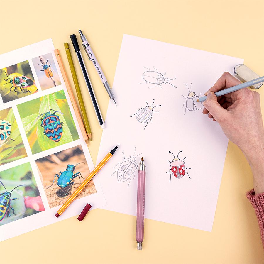 tekeningen voor borduursel schets